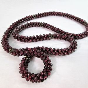 Vintage* Genuine Garnet Rope Necklace